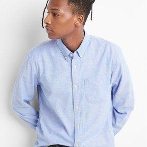 GAP Oxford Chambray Blue Long Sleeve Shirt